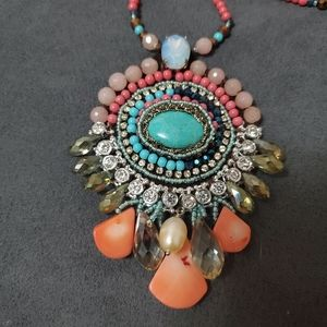Beaded statement nacklace